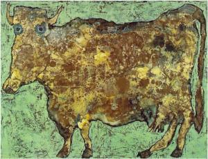 Cow With Subtile Nose, Jean Dubuffet