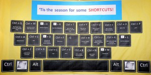 keyboard shortcut bulletin board, by arvind grover on Flickr, licensed under Creative Commons